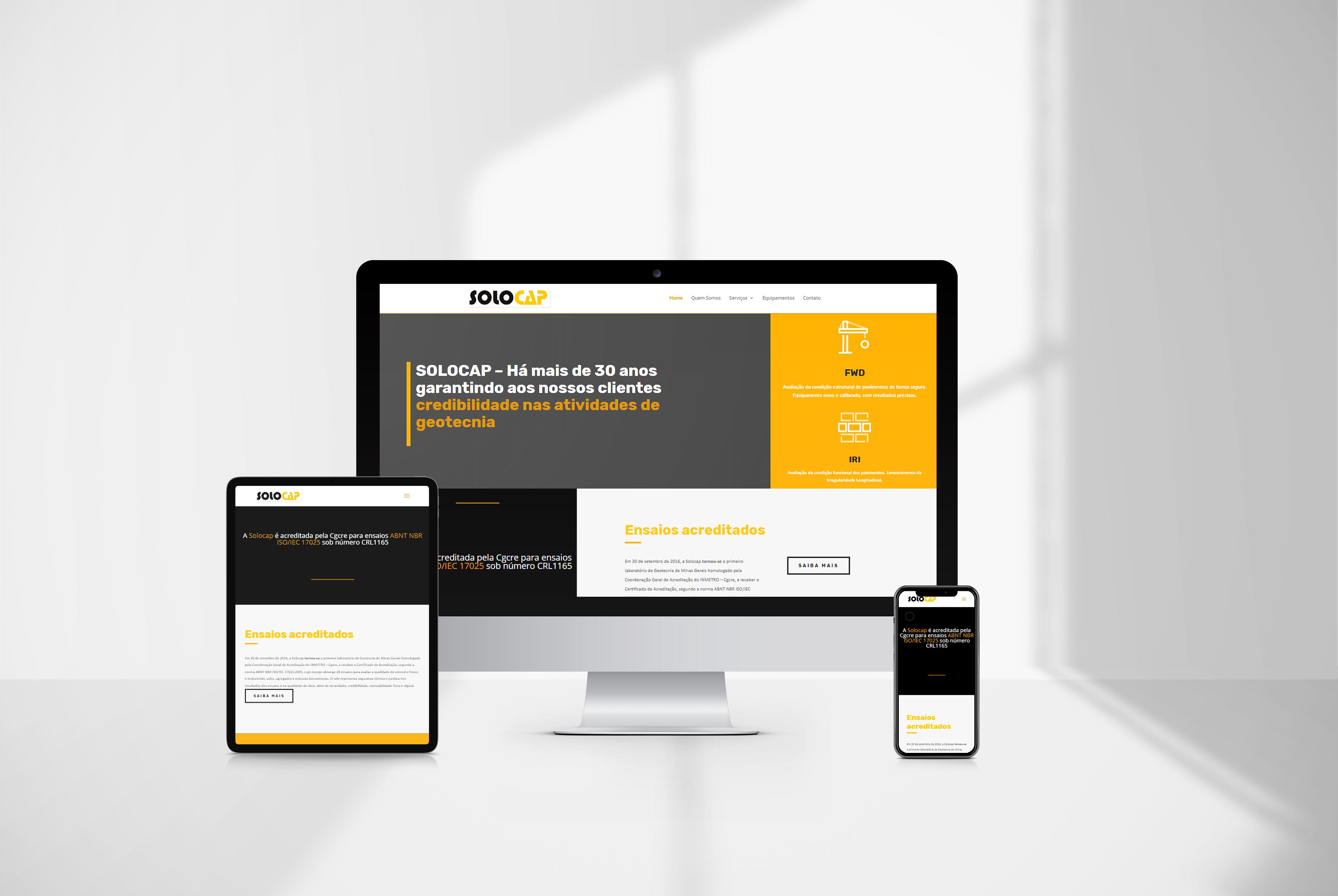criacao de site Solocap agencia de marketing digital casanova digital